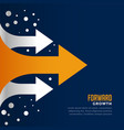 moving forward and leading arrow concept template vector image vector image