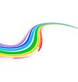multicolor wave vector image vector image