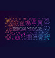 new year colored in line style vector image vector image