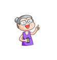old lady had a smartphone vector image vector image
