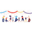 people on party fun dance group happy parent and vector image vector image