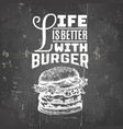 quote typographical background about fast food of vector image