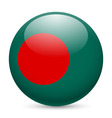 Round glossy icon of bangladesh vector image vector image