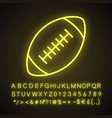 rugby ball neon light icon vector image