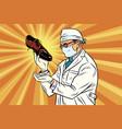 scientist chemist explores shoes vector image vector image