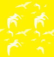 seamless pattern of bird on the yellow vector image