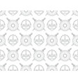 seamless pattern with viking shields swords vector image vector image