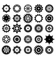 set gear icons vector image