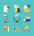 set of flat design style decorative icons vector image vector image