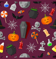 set of flat halloween icons vector image vector image