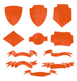 set ribbons and shields t-shirt graphic vector image