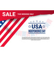 shopping discount sale united states independence vector image vector image