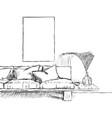 sketch interior design vector image