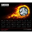 Soccer Fire Calendar 2014 vector image vector image
