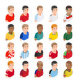 soccer football player avatar icons vector image