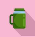 spinach juice icon flat style vector image