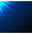 Stars sky night Blue rays Glare vector image vector image