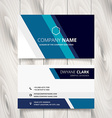 stylish blue stripe business card design vector image vector image
