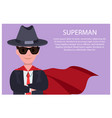 superman poster man and text vector image
