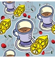 teatime pattern vector image vector image