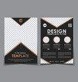 template black a4 brochures vector image vector image
