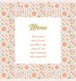 title list for cute pastel colors menu vector image