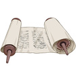 Traditional Jewish Torah Scroll With Text vector image vector image