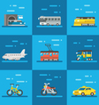 Travel vehicles set flat design vector image