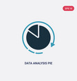 two color data analysis pie chart interface icon vector image vector image