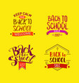 welcome back to school tags vector image vector image
