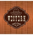 western banner design vector image vector image