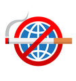 world no tobacco day sign vector image vector image