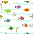 Colorful sea fishes Underwater nature Seamless vector image