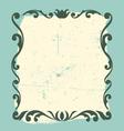vintage frame design element vector image