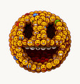 1 april wold fools day smiley face made many vector image vector image