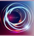 abstract technology digital hi tech hexagons vector image vector image