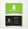 archaeological vase icon business card template vector image vector image