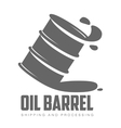 barrel of black oil vector image