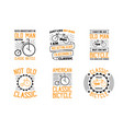 bicycle quote and saying set of bicycle quote vector image