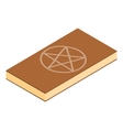 Book of black magic isometric 3d vector image vector image