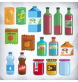 bottles and packing kit vector image vector image