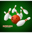 Bowling Concept vector image vector image