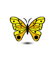 butterfly image white background vector image vector image