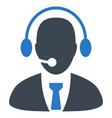 call center director flat icon vector image
