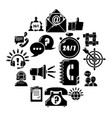 call center icons set simple style vector image vector image