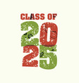 class of 2025 concept stamped word art vector image vector image