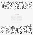 coffee handdrawn banner with space for your text vector image vector image
