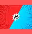 comic versus concept vector image vector image