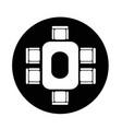 conferance business table icon vector image