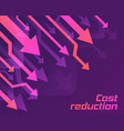 cost reduction concept vector image vector image
